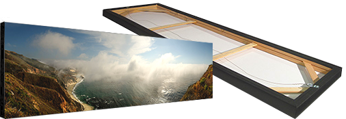 Photographic Panorama, Stretched Canvas, front and back