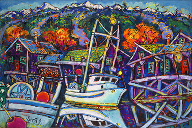 Brian Scott, Fish Boat Reflections, 20