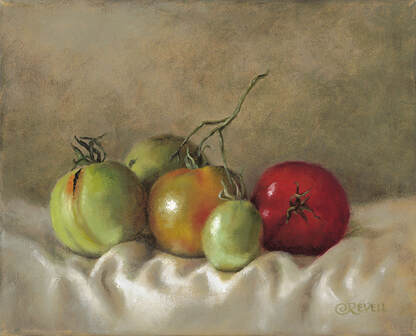Cindy Revell, Ripening Tomatoes III, 3/200
