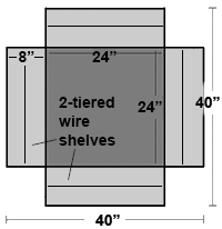 Cubic Slatwall Towers, plan view